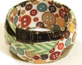 Decoupage bangle, button pattern and more