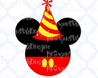 Birthday Mouse Head SVG,EPS,PNG,Studio