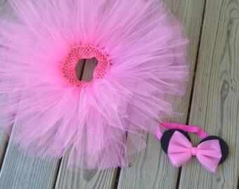 Minnie-Inspired Baby/Toddler Tutu and Matching Hat Headband