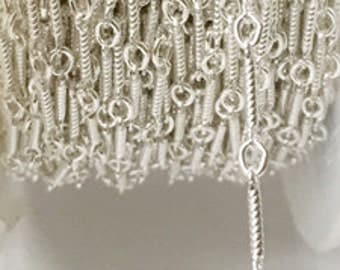 925 Sterling Silver Chain Twisted Wire Chain By Foot #407517