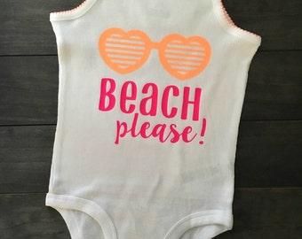 Beach Please! Tank Onesie