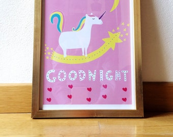 Baby unicorn print