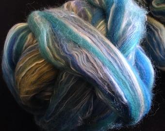 Ashland Bay Merino Tussah Silk Roving 8 oz