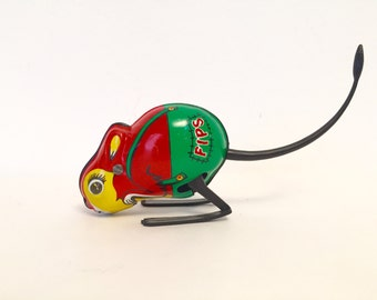 Fips vintage 1960's jumping mouse wind up toy
