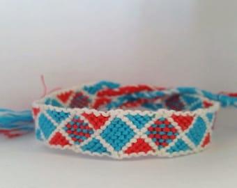 Squared braided bracelet/ Friendship Bracelet