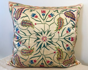 Uzbek suzani pillow cover #12