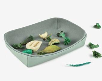 Desk Tray, Key Tray, Coin tray, Jewelry Tray, Storage Tray, Desk Organizer, Home Decor, Green