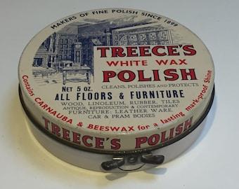 Vintage Tin - Treece's Wax Polish