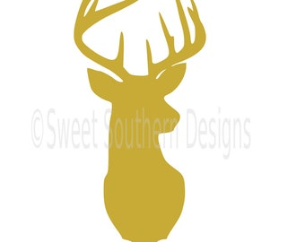 Deer head SVG instant download design for cricut or silhouette