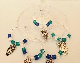 Owl Wine Glass Charms