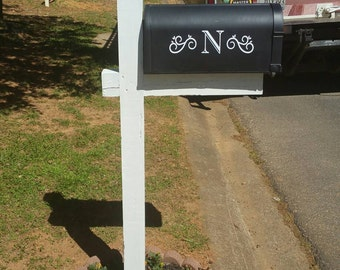 Initial Mailbox Decal