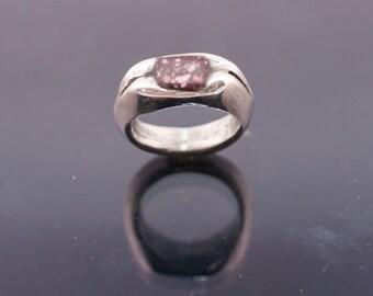 silver ring // ancient design // Roman design // hand made //porphiri recangle