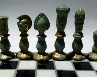 Tournament Medieval Ceramic Chess Set