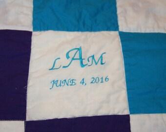 Custom wedding signature quilt