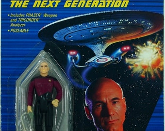 Star Trek The Next Generation Captain Jean-Luc Picard action figure MIP Galoob