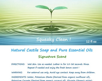 Squeaky Clean! Body and Face Soap
