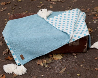 Babyblanket + GIFT/ Woolbaby blanket / Newborn blanket / Knit baby blanket / Baby wrap /Summer baby blanket / Two side blanket/ Newborn gift