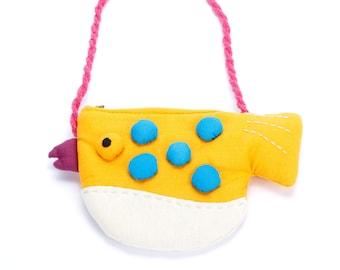 Girls Little Puffer Purse - Yellow