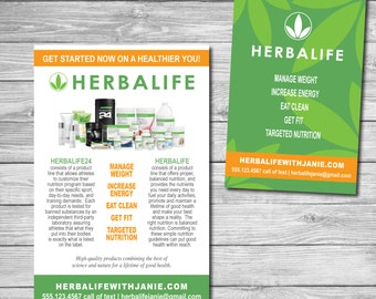 Herbalife Postcards for Wellness Coaches 4x6 Post Card (PRINTABLE - DIGITAL FILE) Blitz Card