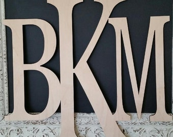 Wooden Monogram Wall Hanging wooden monogram wall hanging | etsy