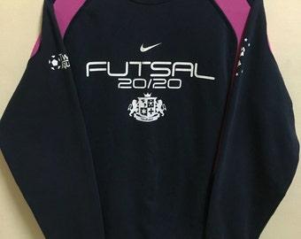 Vintage 90's Nike futsal Sport Classic Design Skate Sweat Shirt Sweater Varsity Jacket Size M #A266