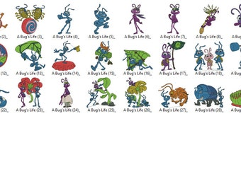 Disney A Bugs Life Embroidery Designs