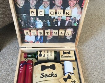 "Personalised ""will you be my best man box"""