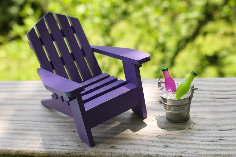 1 Miniature Adirondack Chair Beach Chair Tin Bucket Ice