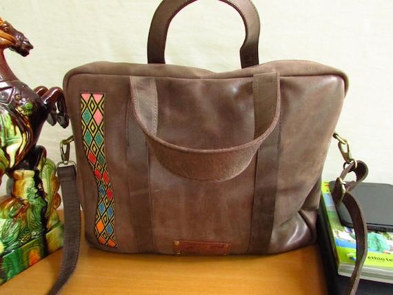 Men laptop bag, unisex book bag, men carryall bag, men leather bag, leather laptop bag, leather bag, pull up leather bag