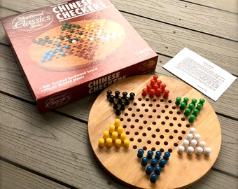 Vintage Chinese Checkers, Fundex Game From Indianapolis IN - Hardwood Classics Series