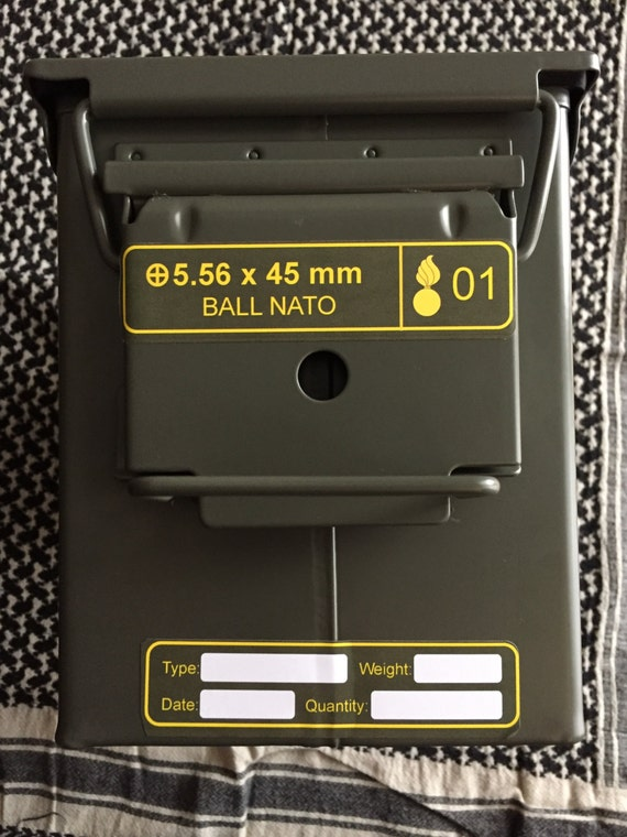 Ammo Can Label For M2a1 50 Cal Ammo Can