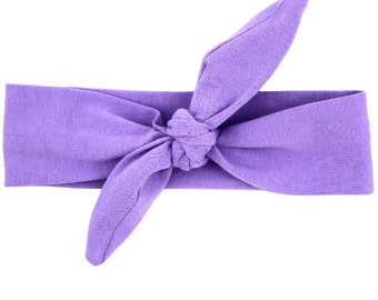 Lavendar/ Light Purple Top Knot Headband
