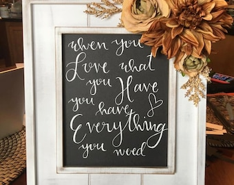 White Framed Custom Bible Verse/Quote