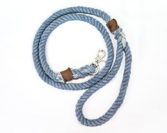 Rope Dog Leash-Denim Blue