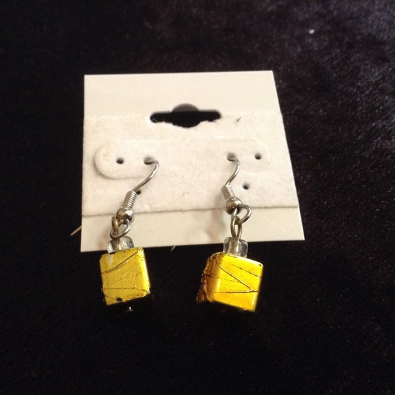 Metal Cube Earrings