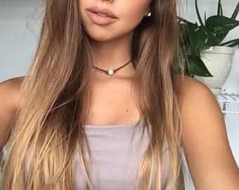 Thick Stranded Brown Pearl Choker