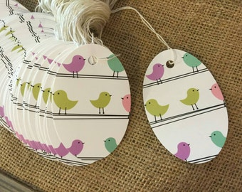 Large Boutique oval lil' birdies price pricing tags 100 pcs