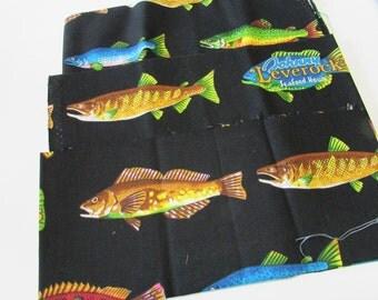 Fat Quarter Quilting Fabric Fish Design