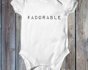 Adorable baby bodysuit | funny baby bodysuit | cute baby clothes | baby shower gift | newborn baby clothes | slogan baby bodysuit