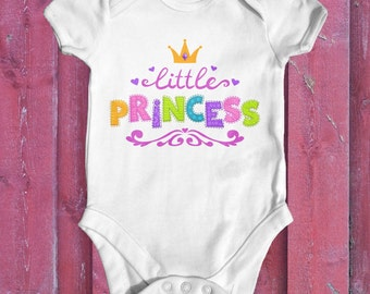 Little Princess Baby Bodysuit | Baby Shower Gift | Newborn Baby Clothes | Baby Princess | Funny Baby Bodysuit | Newborn Baby Clothes