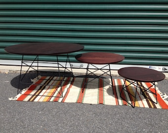 Eames style nesting tables