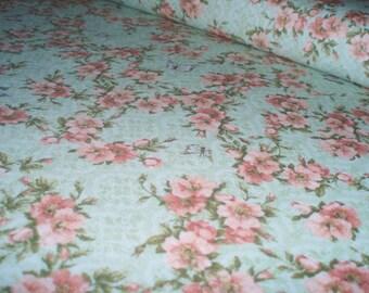 Cotton fabric Mirabelle - flower wine