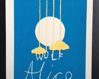 Wolf Alice Print - A4 - Blue and Yellow