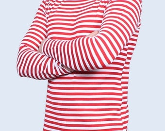 Russian Special Forces striped shirt with Red stripes Telnyashka t-shirt Specnaz