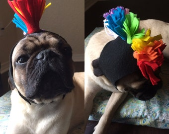 Rainbow Mohawk Dog or Cat Hoodie