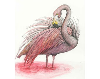 Fading Flamingo Animal Print