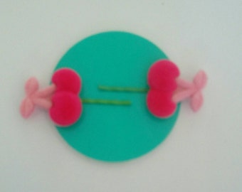 Cherry Hair Clips / Bobby Pins