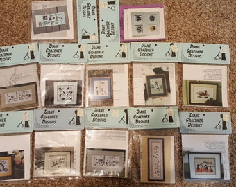 12x Diane Graebner Designs-Lynn's Prints Counted Cross Stitch Charts