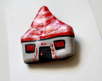 House Illustrated Pin