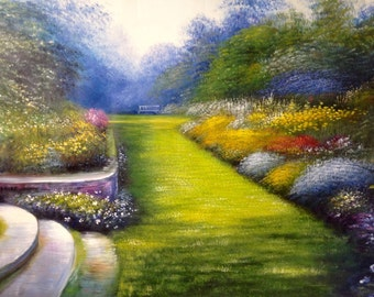 Beautiful Garden Path Oil painting